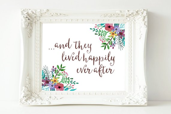 Ever After home decor wall art quote print Home print
