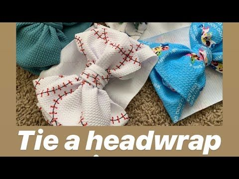 How To Tie A Baby Headwrap (bow)