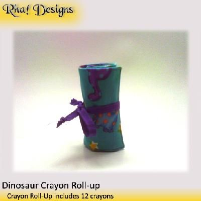 Dinosaur Fun Crayon Roll-Up