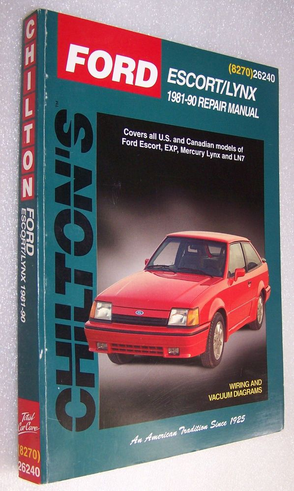 ford escort lynx 1981 1990 repair manual chilton 8270 26240 auto rh pinterest co uk ford lynx service manual Ford 600 Manual