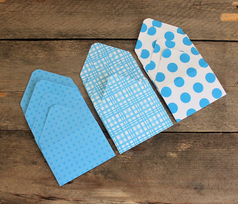 Small Envelopes - Gift Card Envelopes - Mini Envelopes - Set of 12 ...