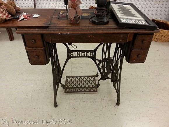 How To Repurpose A Singer Sewing Machine Into Desk Table Or Makeup Vanity
