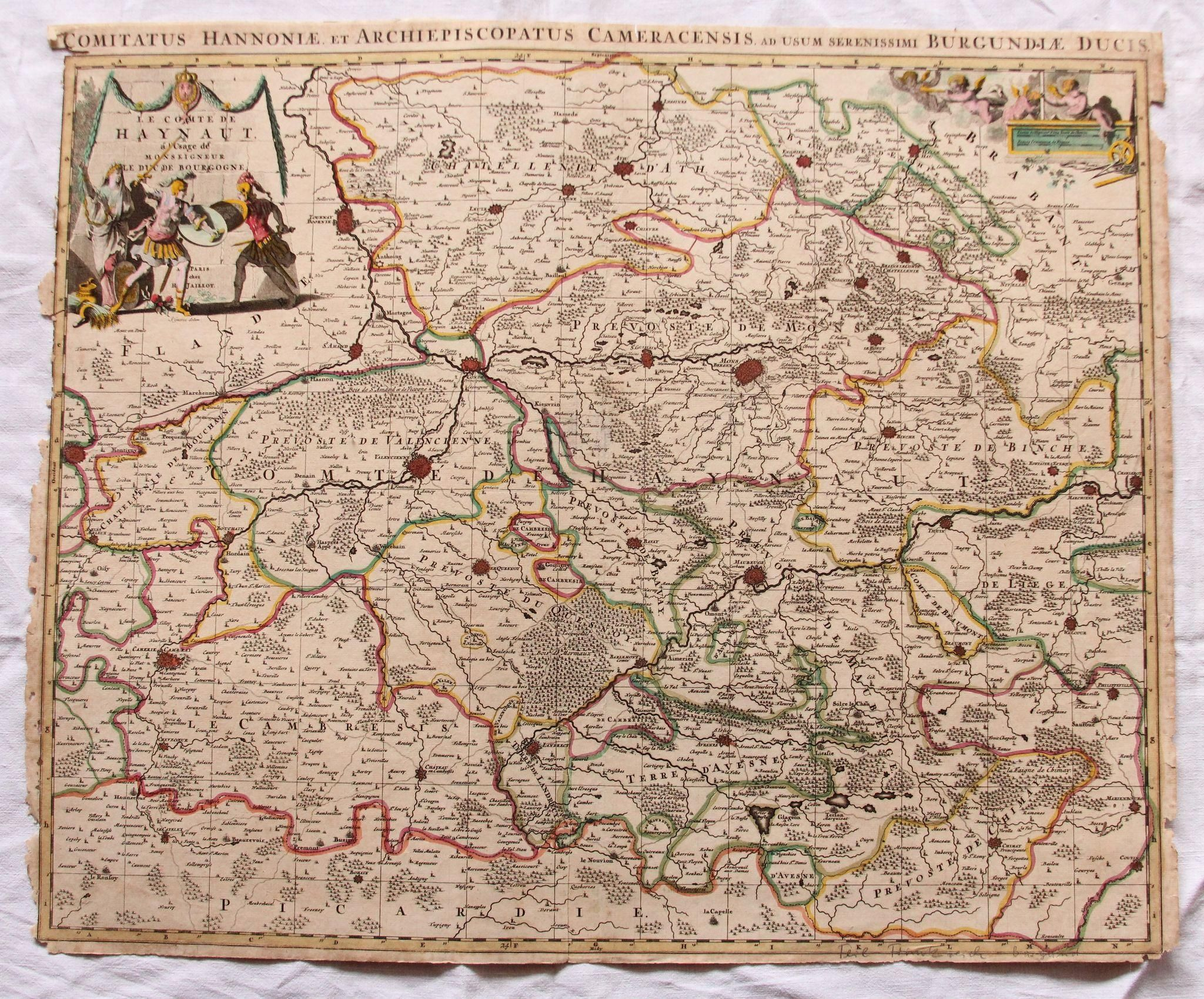 17th Century Map of the Province of