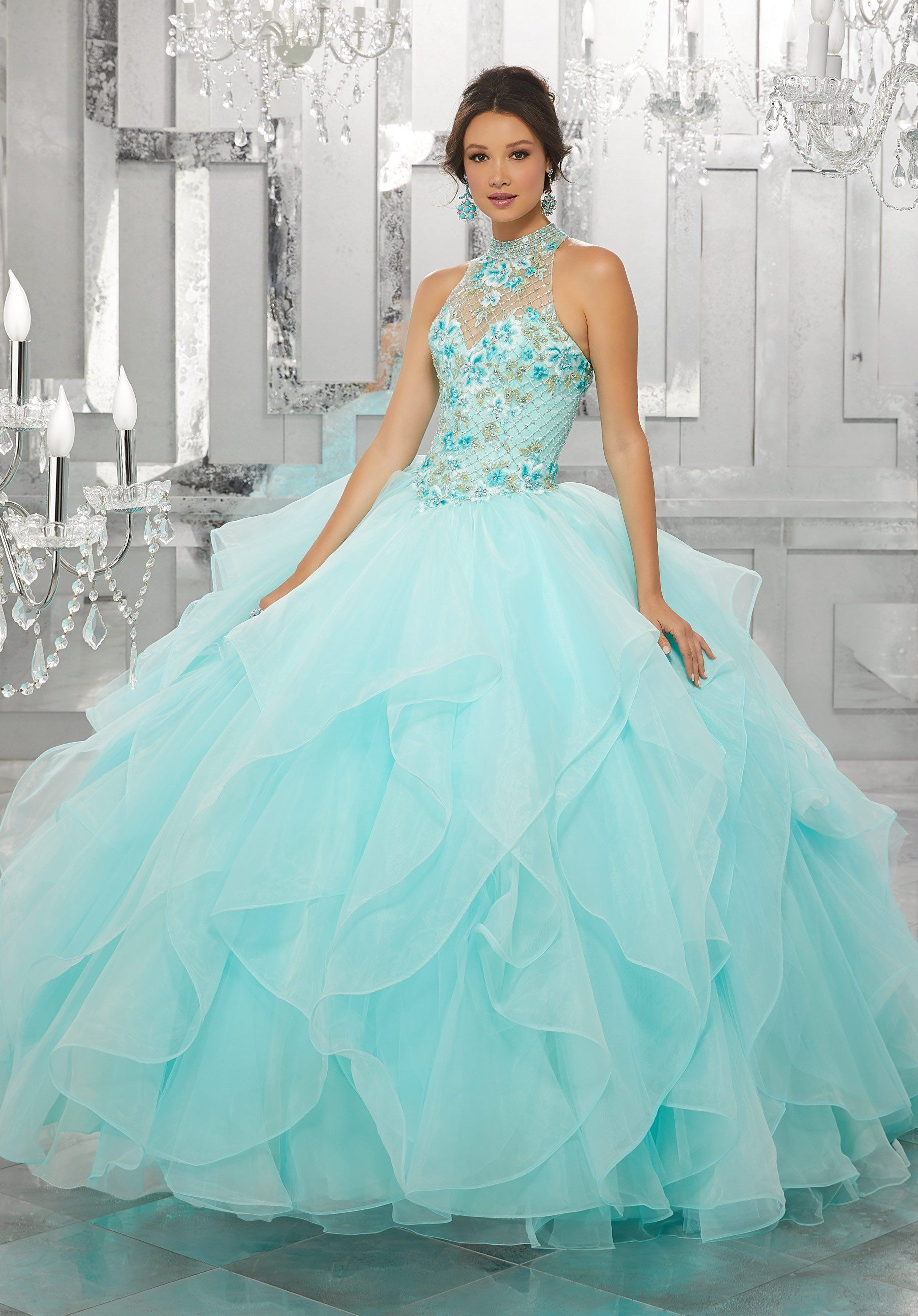 2a8bffac9e Floral Embroidered Quinceanera Dress by Mori Lee Vizcaya 89149 in ...