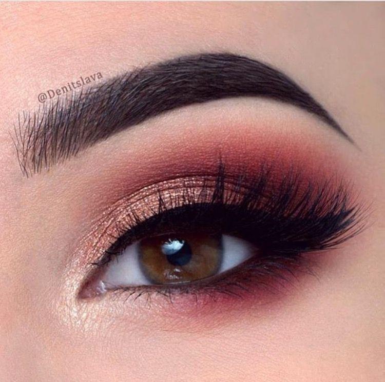 Sombras tonos rojizos. | Makeup | Pinterest | Maquillaje, Ojos y ...