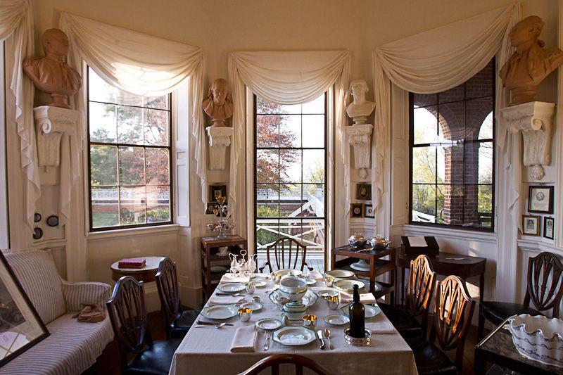 Interiors thomas jeffersons monticello tea room