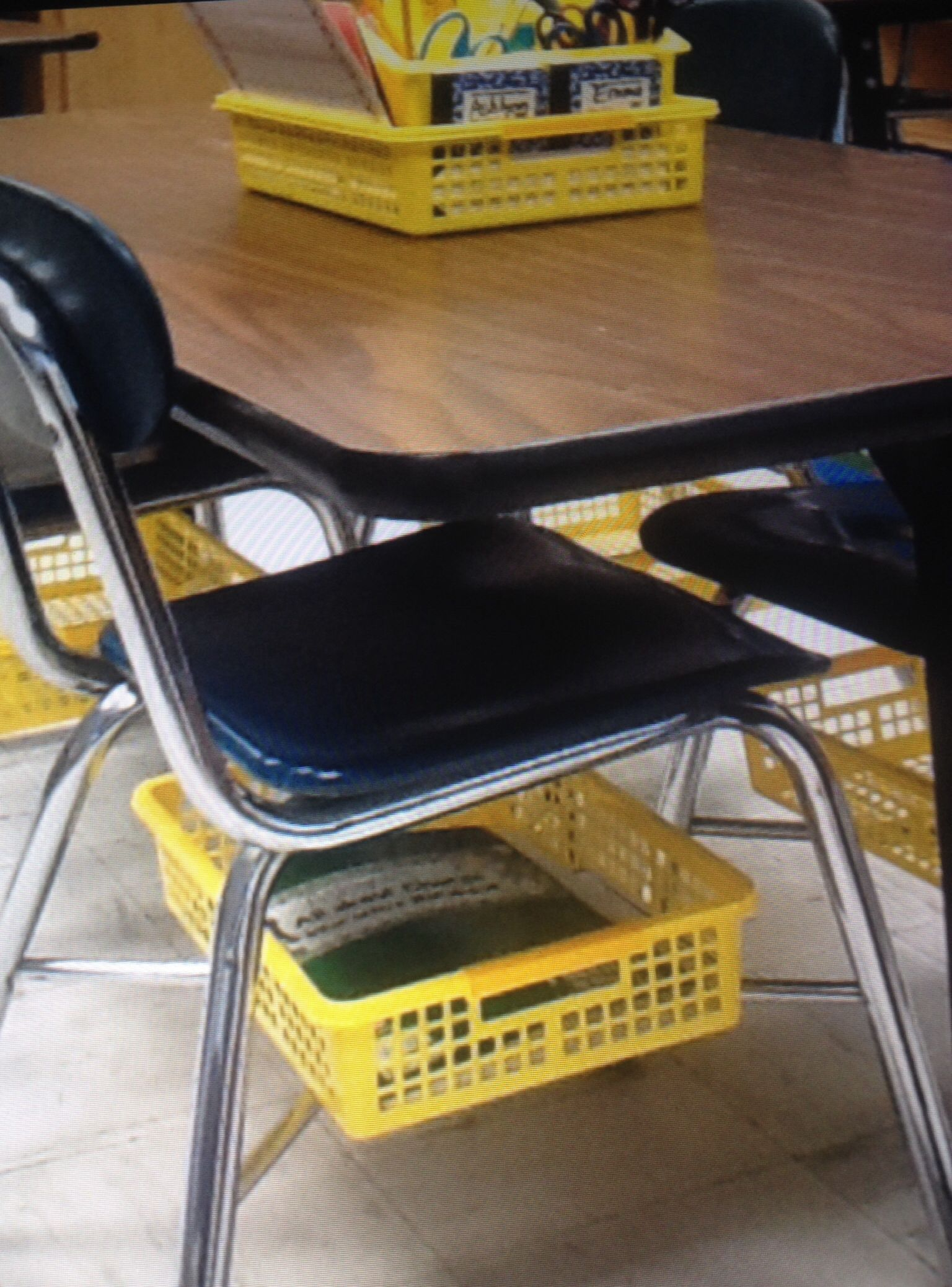 Do you have tables for your students? You know how there