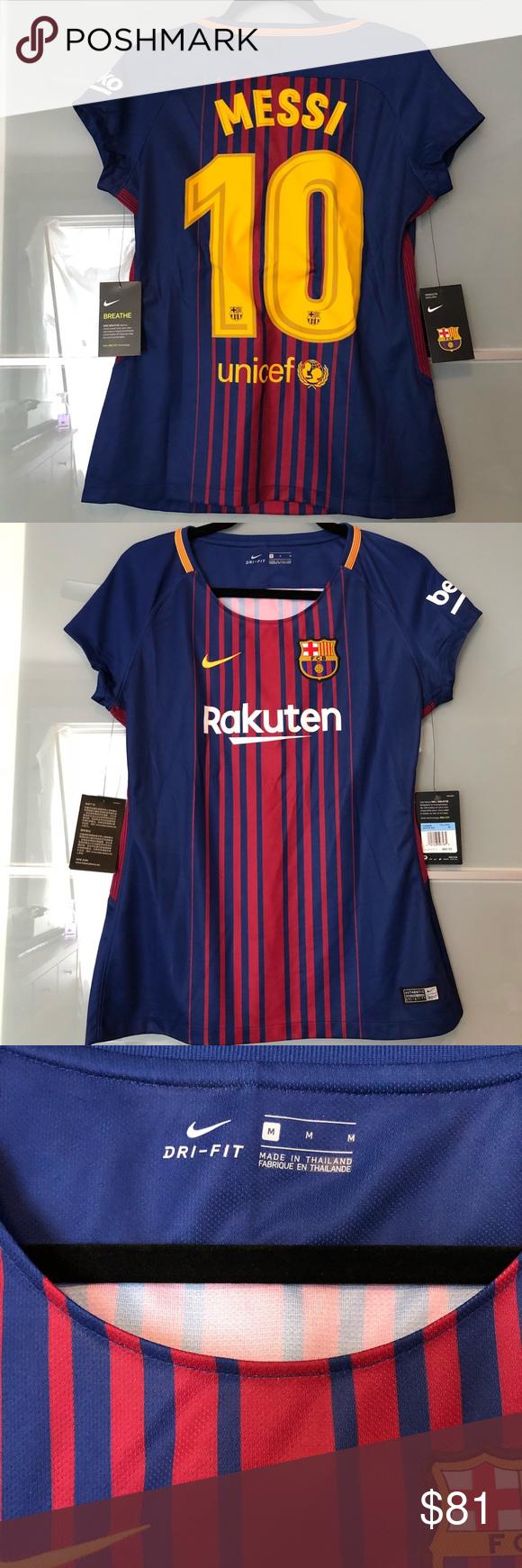 buy popular 332e9 d66a0 Nike Barcelona Messi Jersey 2017-2018 — Women's M Customized ...