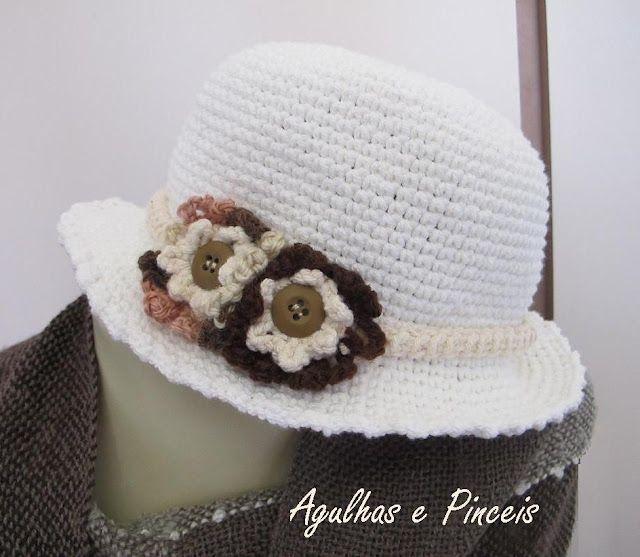 tutorial | chapeus de crochê | Pinterest | Cuerda, Punto de cruz y ...