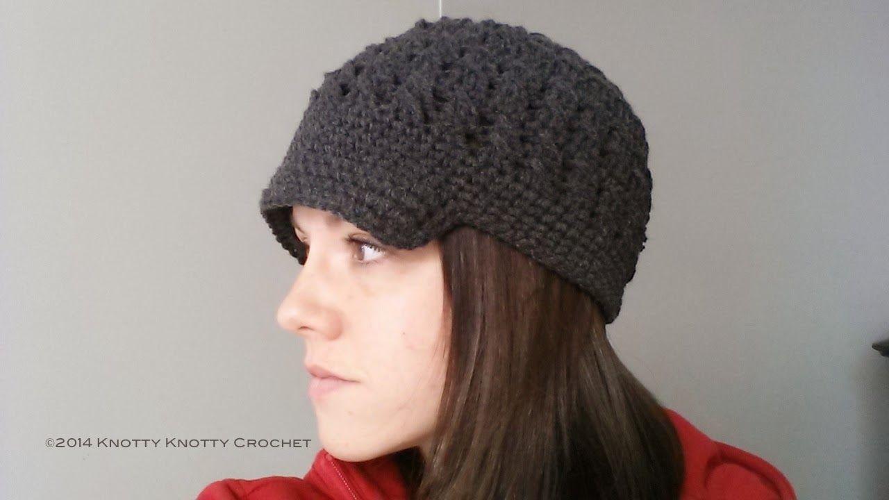Knotty Knotty Crochet: Ladies Newsboy hat. FREE PATTERN! | Crochet ...