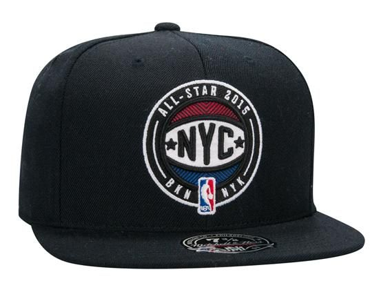 d6433722 NYC 2015 NBA All-Star Collection Fitted Baseball Cap by MITCHELL & NESS x  NBA