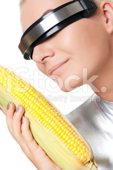 cyber woman with a corn humor me pinterest royalty free stock
