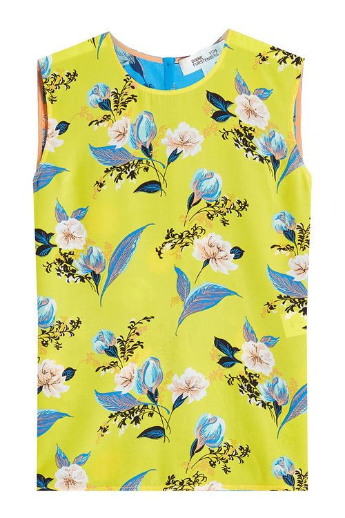 3561300c7315d Floral-Print Sleeveless Silk Shell Top