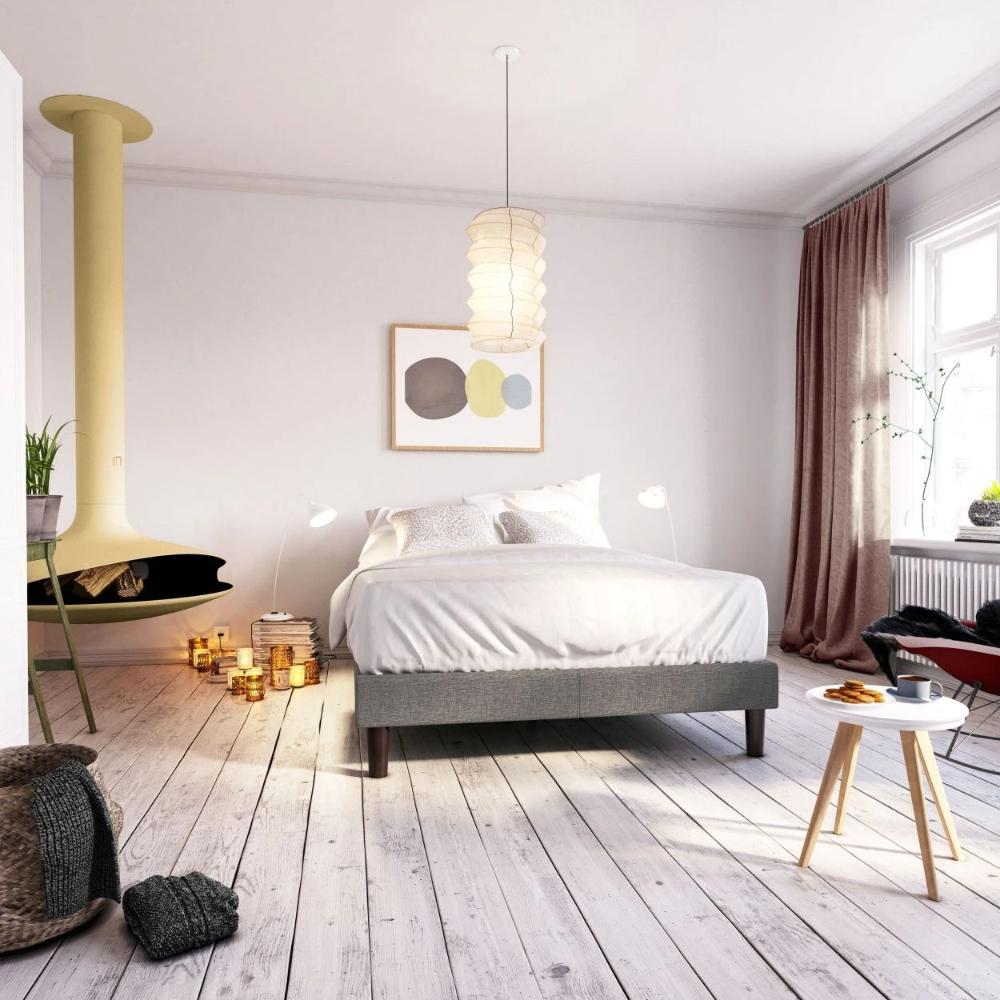 Curtis Upholstered Platform Bed Frame Zinus in 2020
