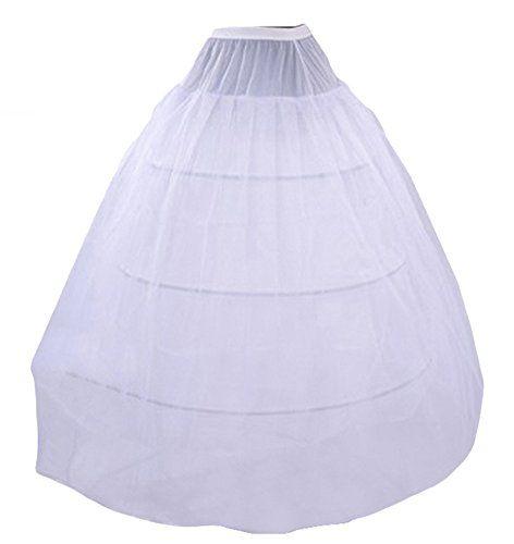579977e238e Wookki Forme Princesse Jupon Blanc Pour Robe Cloche En Tulle 3 Cerceau 2  Couche Crinoline Petticoat