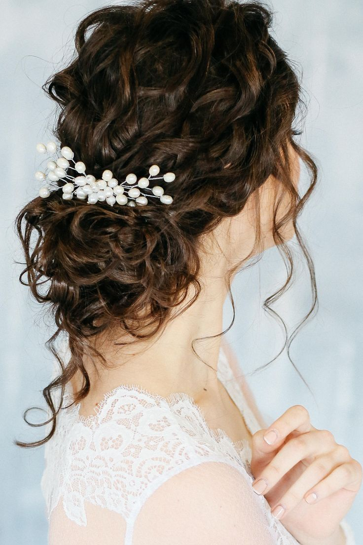 Ivory Bridal Hair Comb, Bridal Pearl Hairpiece, Pearl Hair comb, Bridal pearl headpiece, Ivory silve -   18 hair Bridesmaid how to ideas