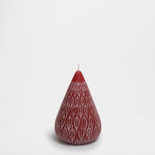 Imagen del producto Vela alargada relieve fuchsia oscuro
