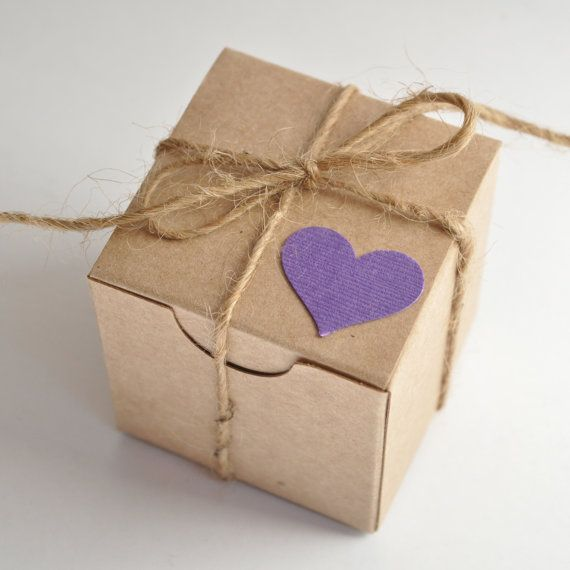 Plum Favors Mulberry Lavender Rustic Wedding Favor Box Small