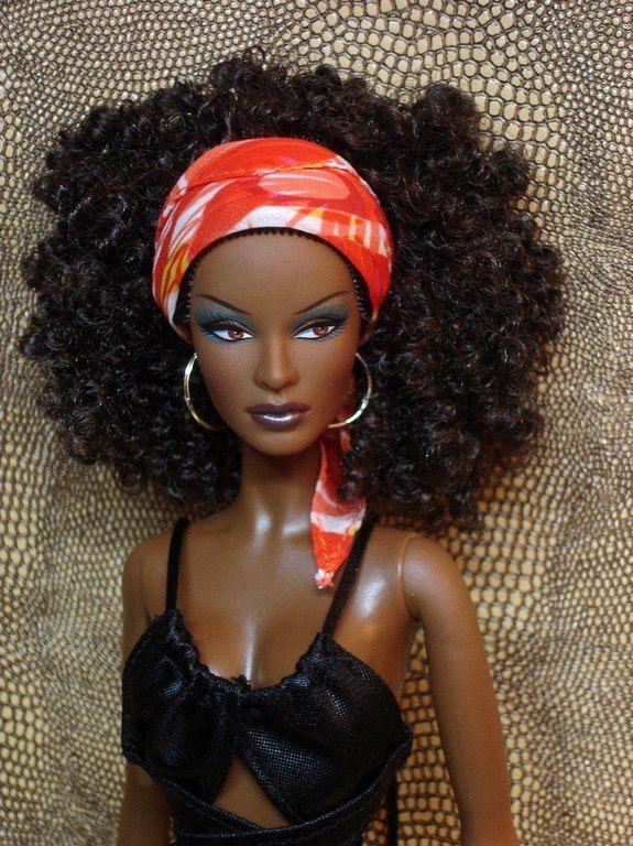 Natural Hair Doll With Attitude Black Barbie Natural Hair
