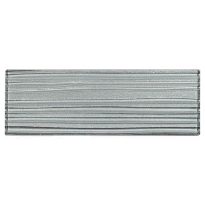 Dream Satin Titanium Glass Tile - 3in. x 9in.   Floor and Decor