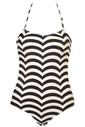 5d6e179a4c257 Scallop Stripe Swimsuit  36.00. black scallop stripe swimsuit
