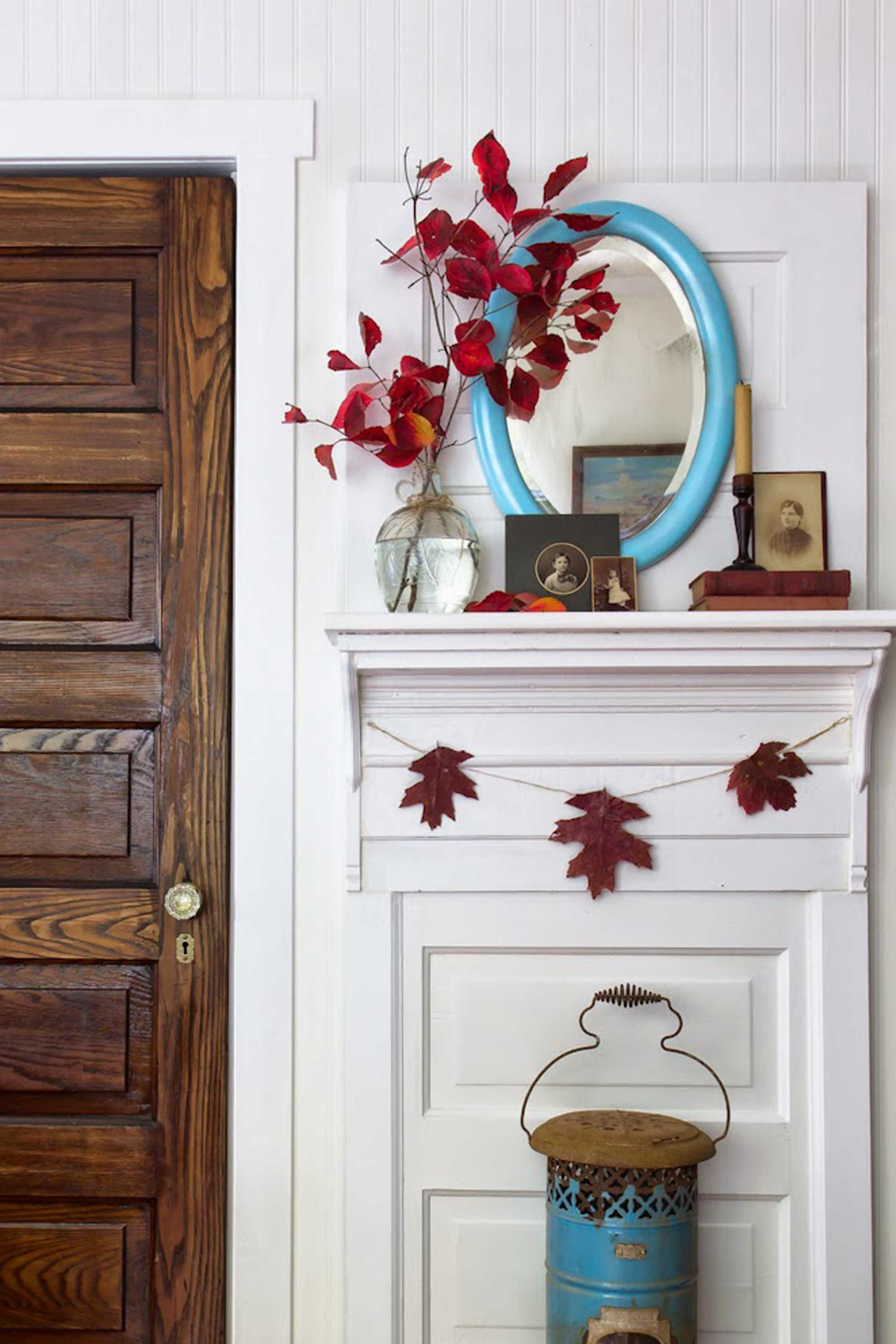 35 Absolutely Stunning Ways to Decorate Your Mantel for Fall and - door decoration halloween