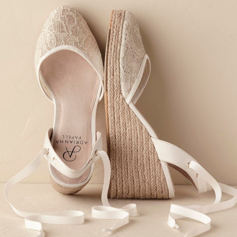 12 Comfortable Wedding Shoes You Can Actually Dance in - BHLDN Sonrisa  Espadrilles from InStyle.com ef4e18e2629c