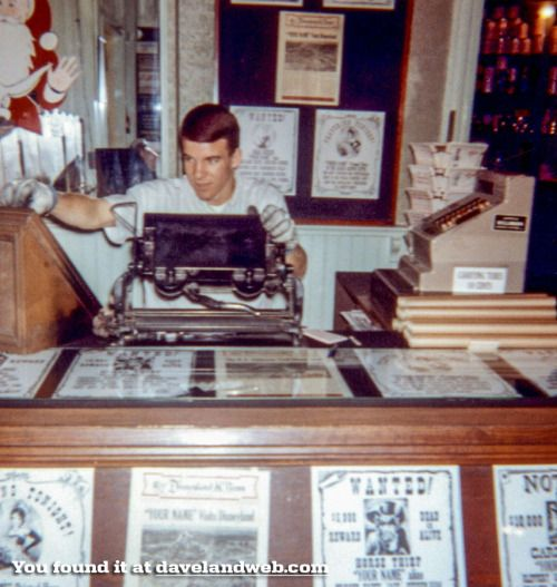 A young Steve Martin working at Disneyland.