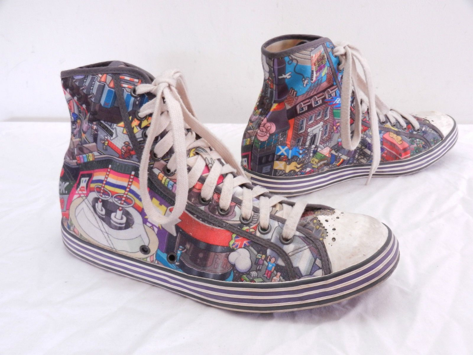 1d73ca0b4283 Cool Mens UK 9 US 10 PAUL SMITH  Torta  Converse Styled Hi-Top ...