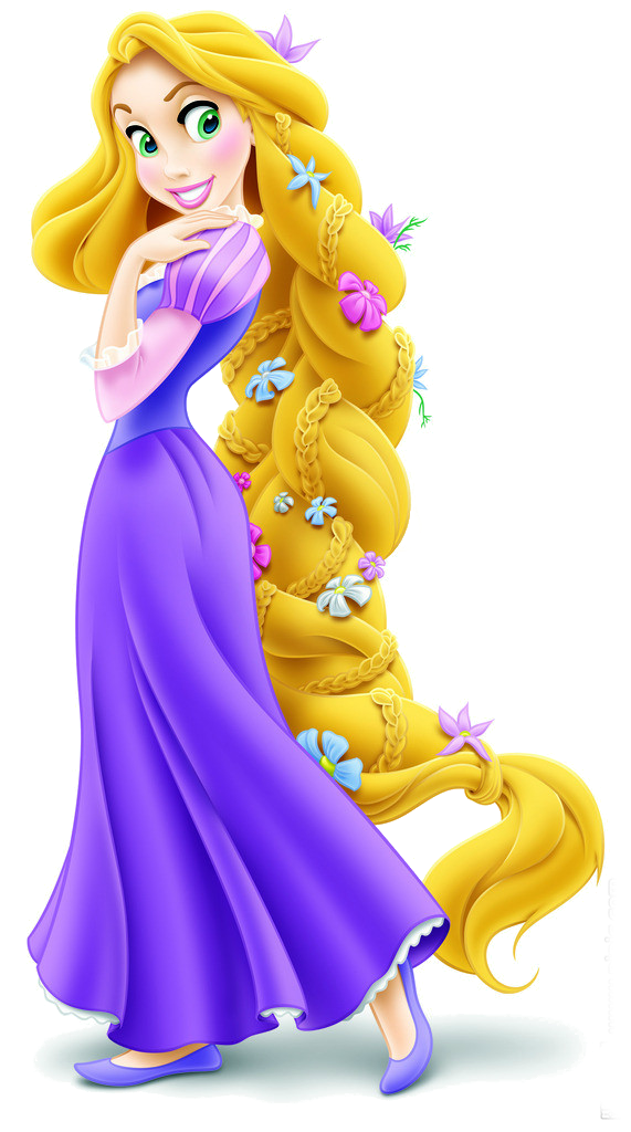 Rapunzel With Flowers In Her Long Braided Hair Tangled