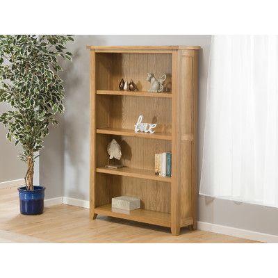 """Hometime Stirling Oak 61.42"""" Standard Bookcase"""