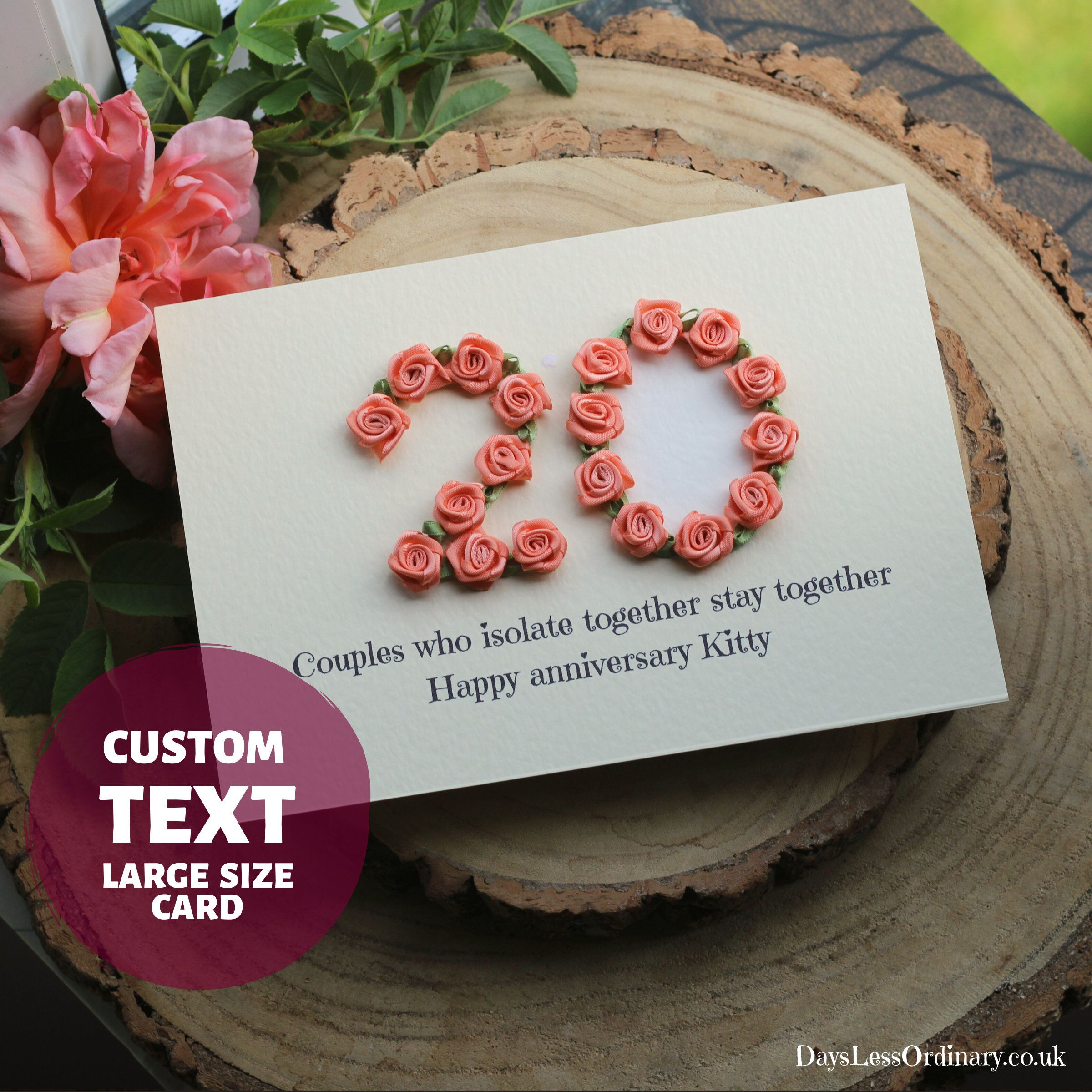 11th Anniversary Personalised Card Wife Happy Steel Etsy Happy Birthday Cards Handmade 20th Anniversary Cards Anniversary Cards Handmade