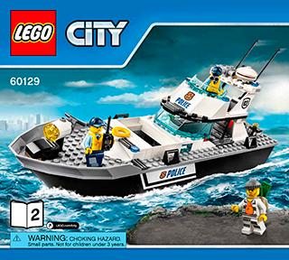 Police Patrol Boat 60129 Lego City Police Building Instructions Lego Com Lego City Lego City Police Lego