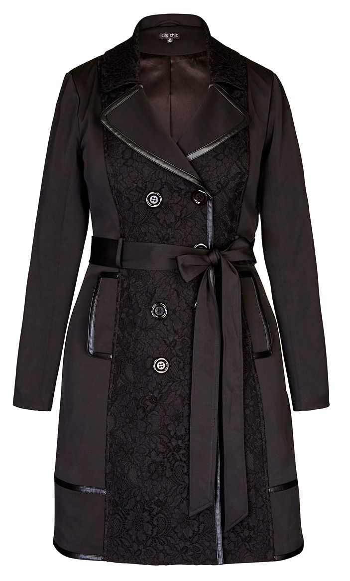 823a9072ec City Chic - Lace Vixen Trench Coat. I want this bad. It will be mine, this  Autumn/Winter.