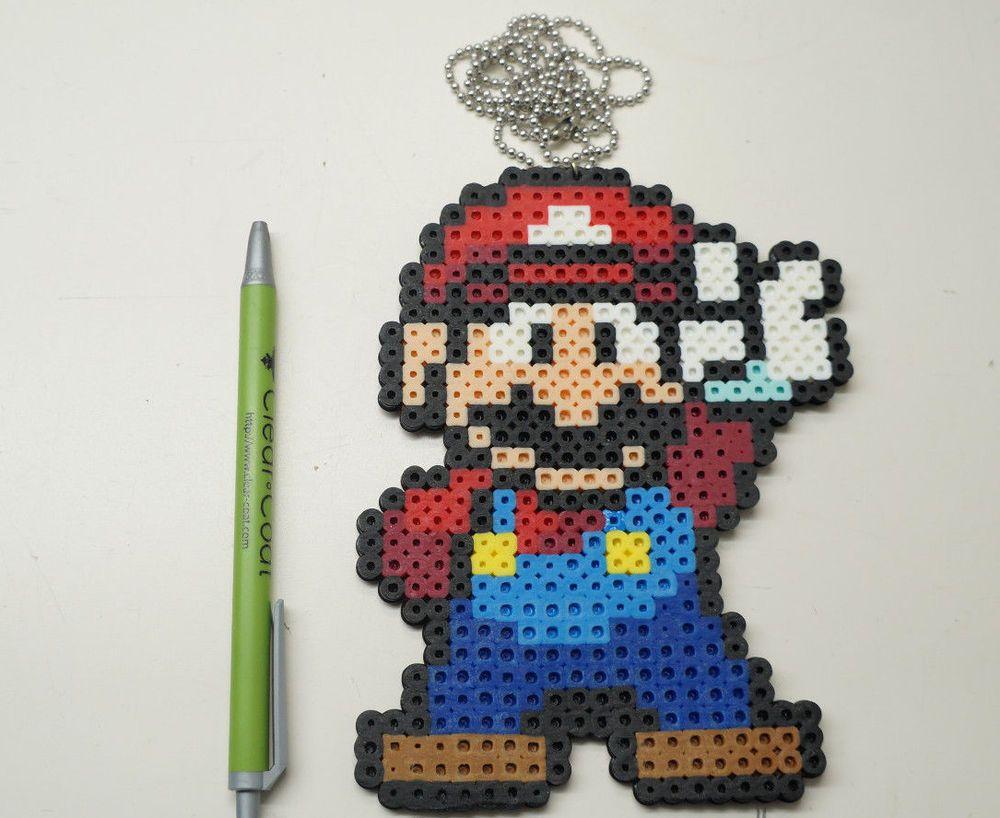 Super Mario Bros Mario 8 Bit Pixel Art Minecraft