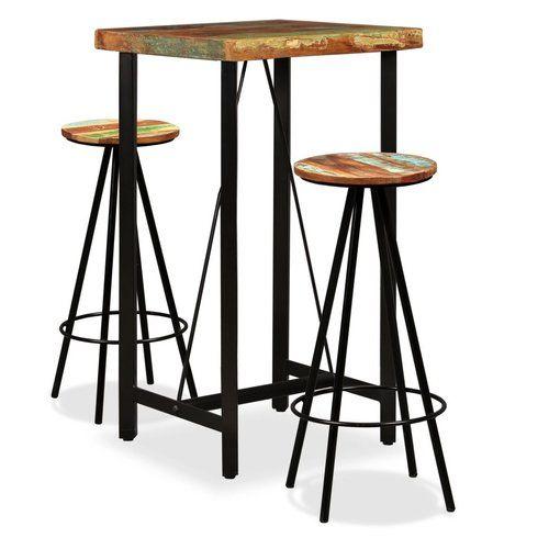 Williston Forge 3 Tlg Bartisch Set Aenwood Bar Dining Table