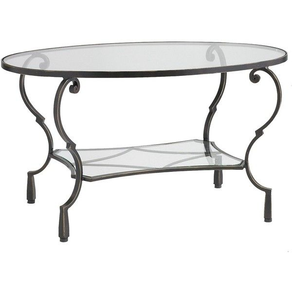 Pier 1 Imports Chasca Glass Top Oval Coffee Table 250 Liked On Polyvore Featuring Home Furniture Coffee Table Oval Coffee Tables Glass Top Coffee Table