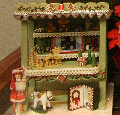Miniature Vignettes from the 2011 Spring Seattle Dollhouse Miniature Show: Yet Another Altered Cabinet Display