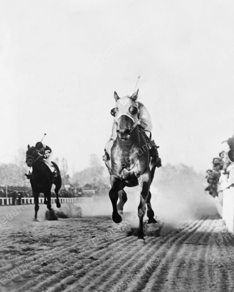 Seabiscuit Finish Line Beats War Admiral 1938