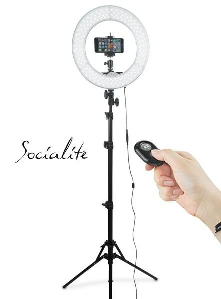 Socialite 12 Inch Led Ring Light Kit Incl Ring Light 6 Foot Stand Dslr Iphone Mount Remote Led Ring Light Led Ring Light