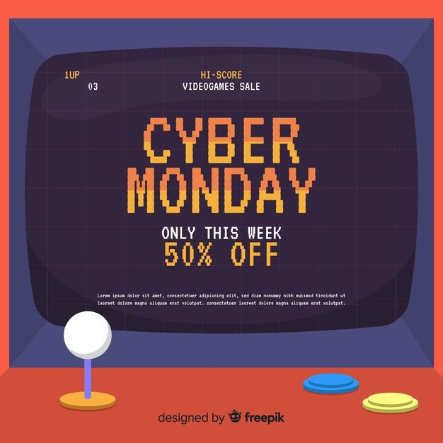 Cyber Monday In Flat Design Free Vector Freepik Freevector Freedesign Freetechnology F In 2020 Retro Games Poster Motion Graphics Design Portfolio Design Layout