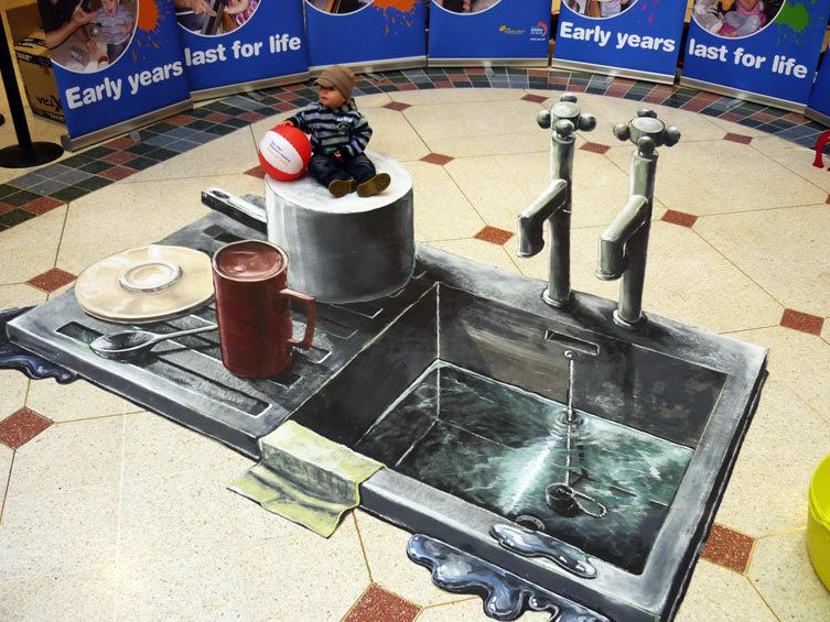 Kitchen Sink Drama 3D street art - 3D Joe and Max | That\'s clever ...