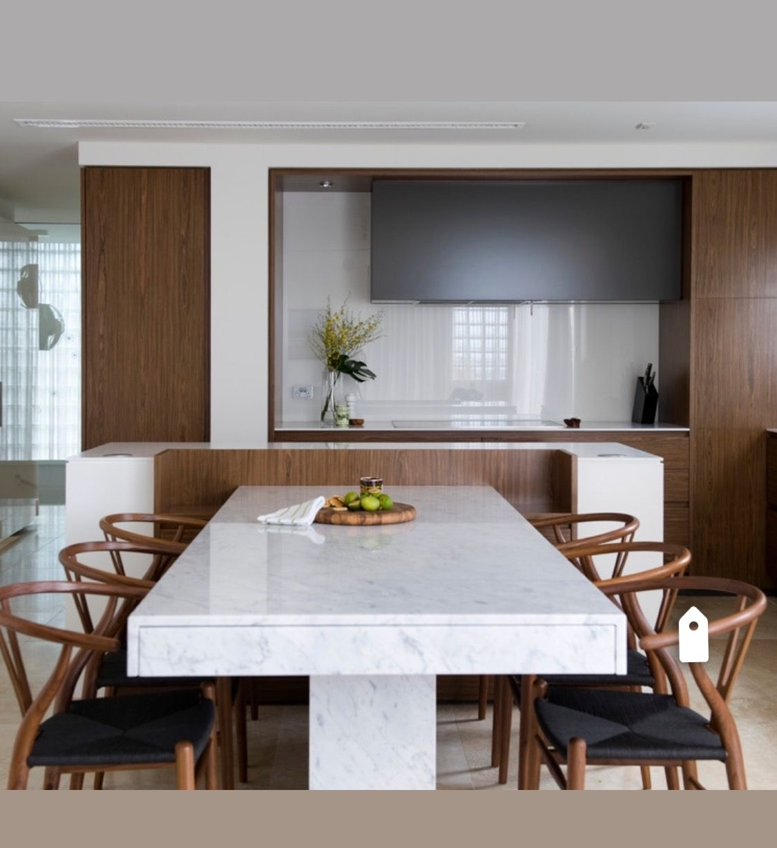 Pin By Cindy Windsor On Np Dining Minimalist Dining Room Dining Table Marble Kitchen Island With Seating