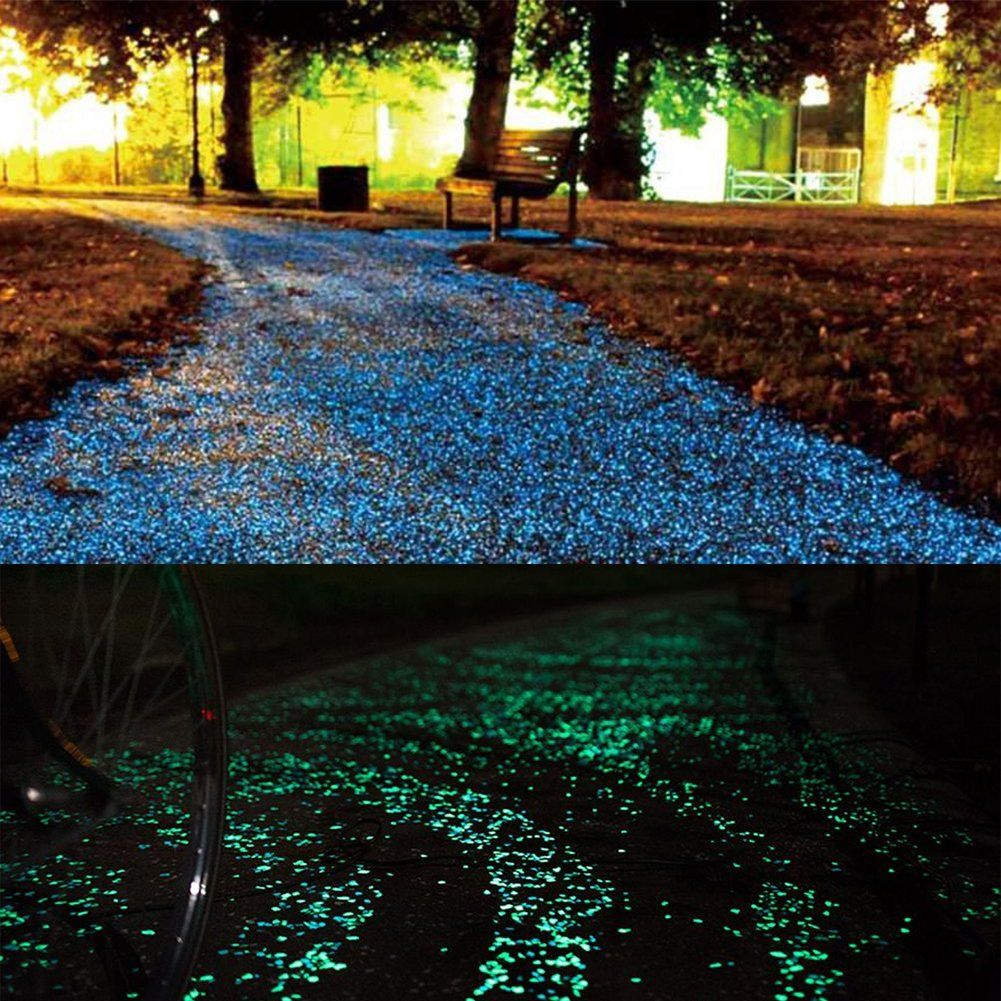 Homder 220pcs Glow in the Dark Garden Pebbles for Walkways