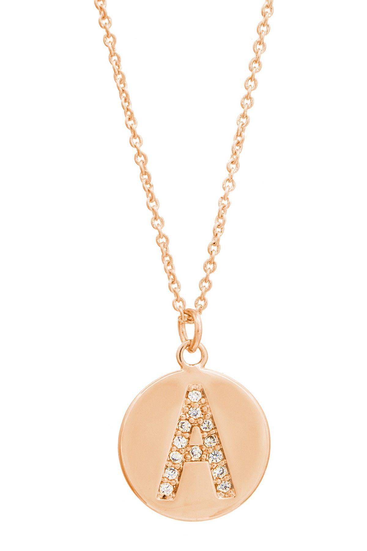 Cz initial pendant necklace multiple letters pinterest initial