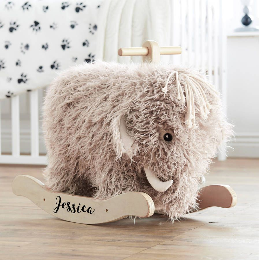 Einfache Dekoration Und Mobel Mammoth Collection #15: Are You Interested In Our Personalised Rocking Mammoth Toy? With Our  Personalised Mammoth Rocker Toy