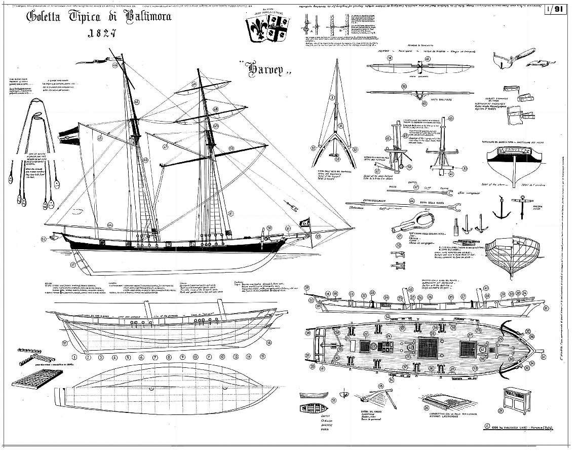 Photo Plan Clipper Schooner Harvey