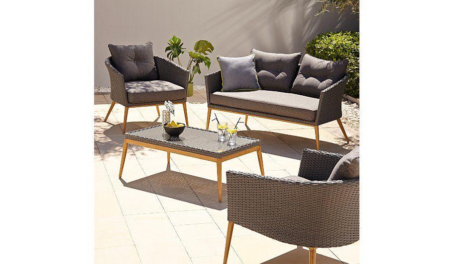 Fabulous Capri 4 Piece Garden Sofa Set Garden Furniture Garden Inzonedesignstudio Interior Chair Design Inzonedesignstudiocom