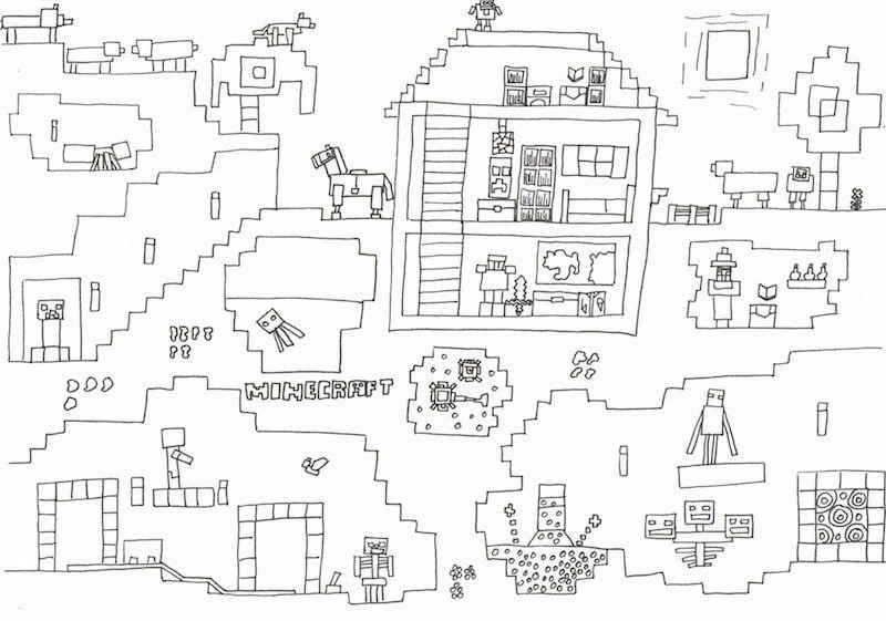Minecraft Party Zum Kindergeburtstag Mit Deko Spielen Kuchen Minecraft Party Minecraft Ausmalbilder Kindergeburtstag