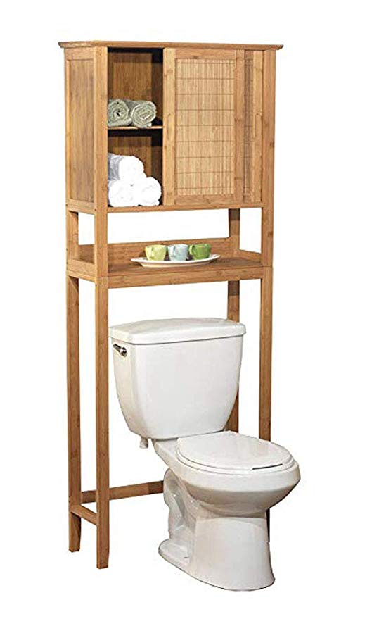 Amazon Com Natural Bamboo Space Saver Bathroom Storage Space
